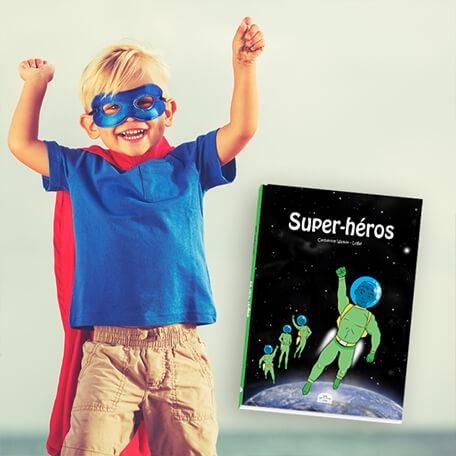 BD personnalisé pour les garçons super héros