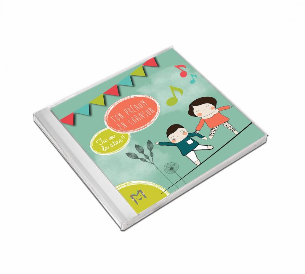 coffret CD prénom anniversaire pour les enfants de l'album Ma Musique pour Moi