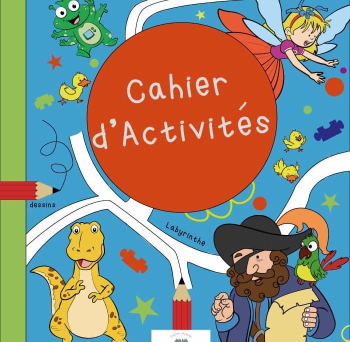 Cahier activité offert avec 80 pages de jeux et coloriage
