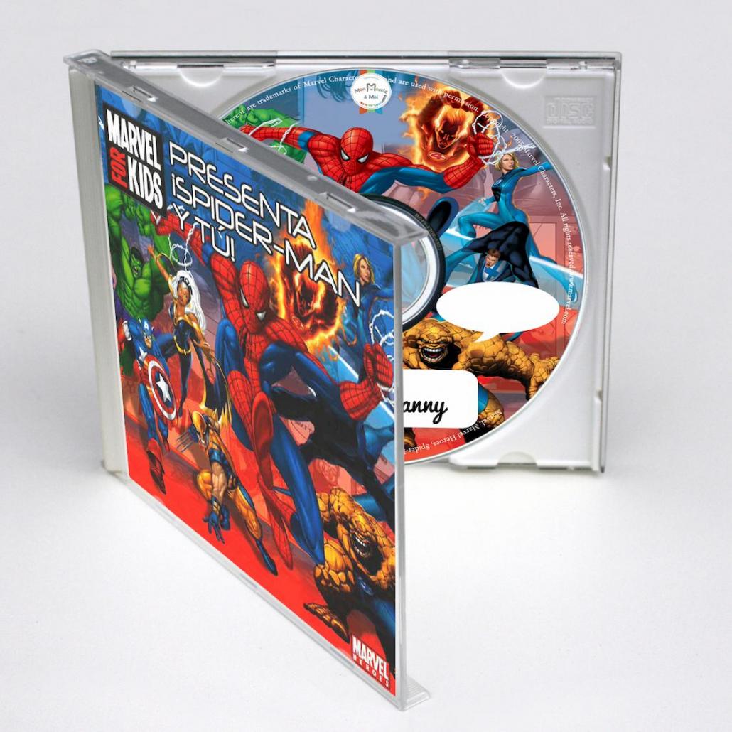 Chansons personnalisées pour les enfants en Espagnol Spiderman y tu