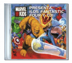 CD personnalisé en espagnol les 4 fantastiques