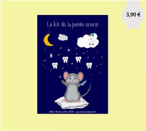 Kit petite souris avec brosse à dents pour les enfant