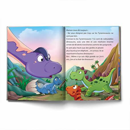 Livre personnalisé pour les enfant dinosaure fait sur-mesure