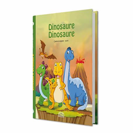 Livre personnalisé pour les enfants dinosaure dinosaure