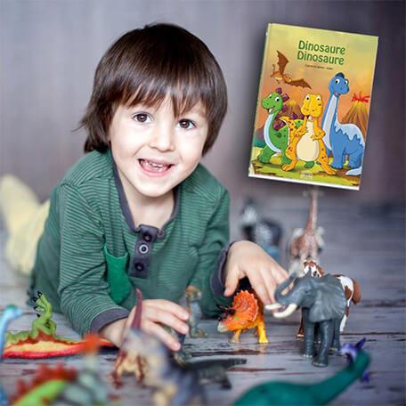 Livre personnalisé enfants sur le monde magique des dinosaures