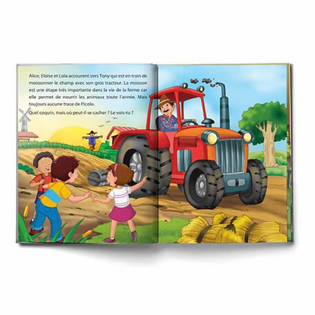 Livre personnalisé pour les enfants une journée à la ferme