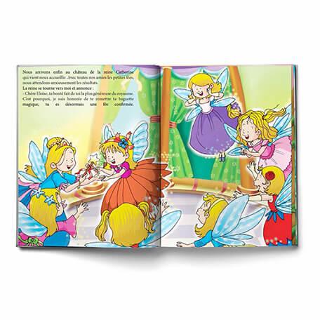 livre personnalisé filles la reine des fées fait sur-mesure