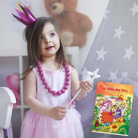 Livre personnalisé petite fille reine des fée magique