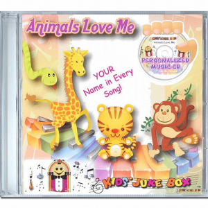 Coffret CD au prénom de votre enfant sur les animaux