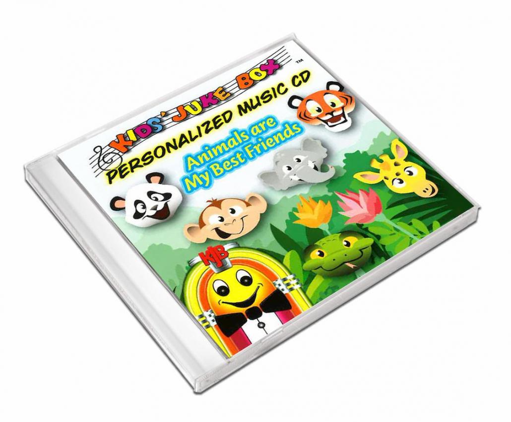 album de musique personnalisé en anglais sur les animaux