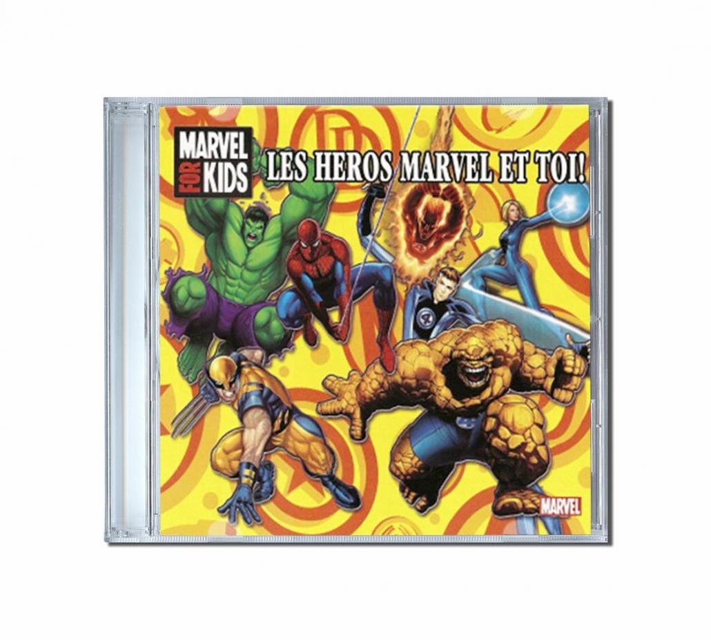 album de chansons personnalisées pour les enfants Marvel