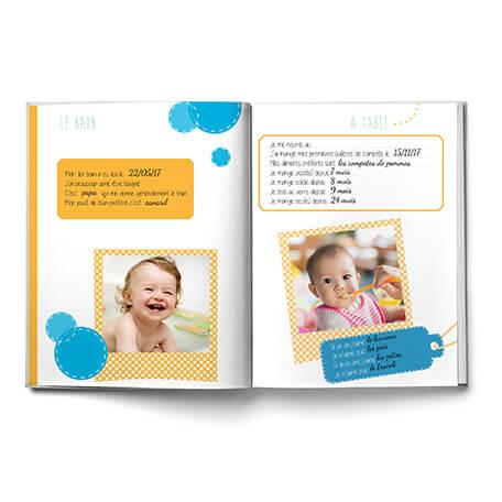 Album de bébé cadeau de naissance 0 à 3 ans