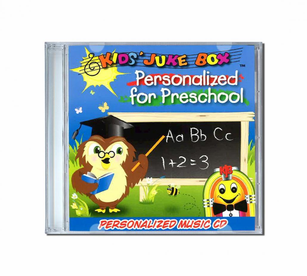 album de chansons personnalisées personalised for preschool