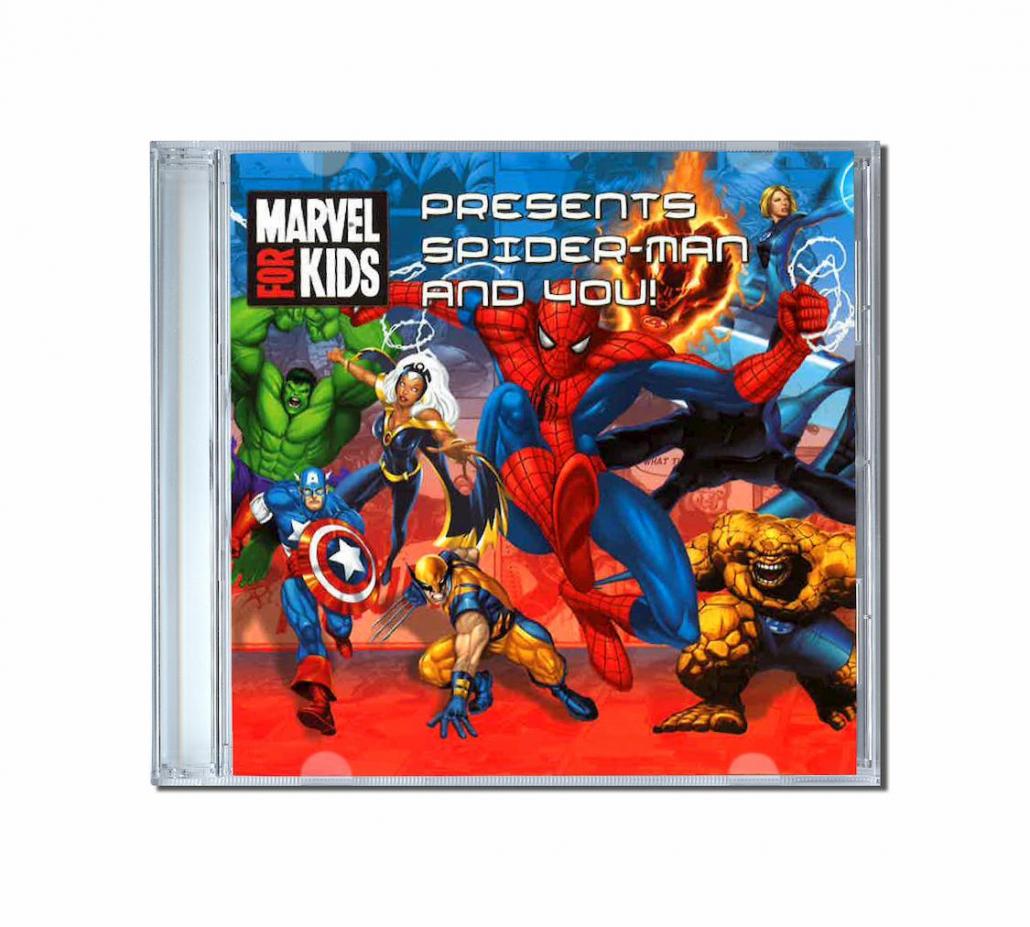 Album de chansons au prénom de l'enfant avec spiderman