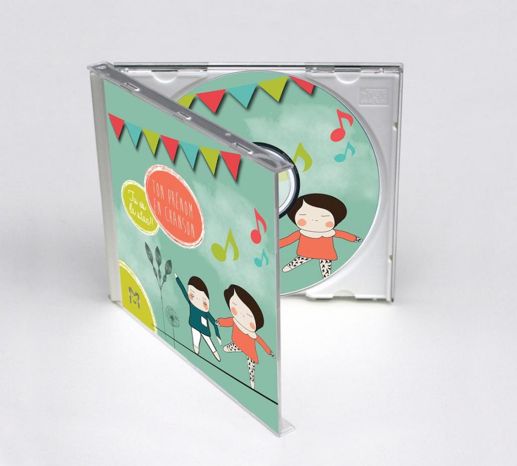 CD personnalisé prénom pour les enfants album Ma Musique pour Moi