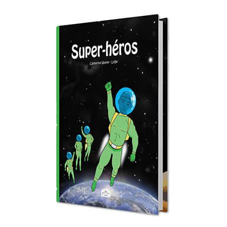 BD personnalisée super héros couverture rigide