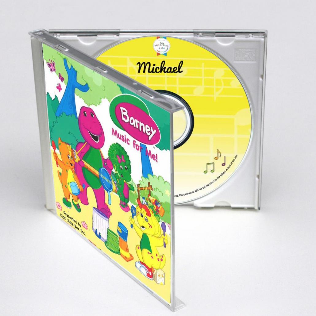 Coffret CD personnalisé de Barney en anglais