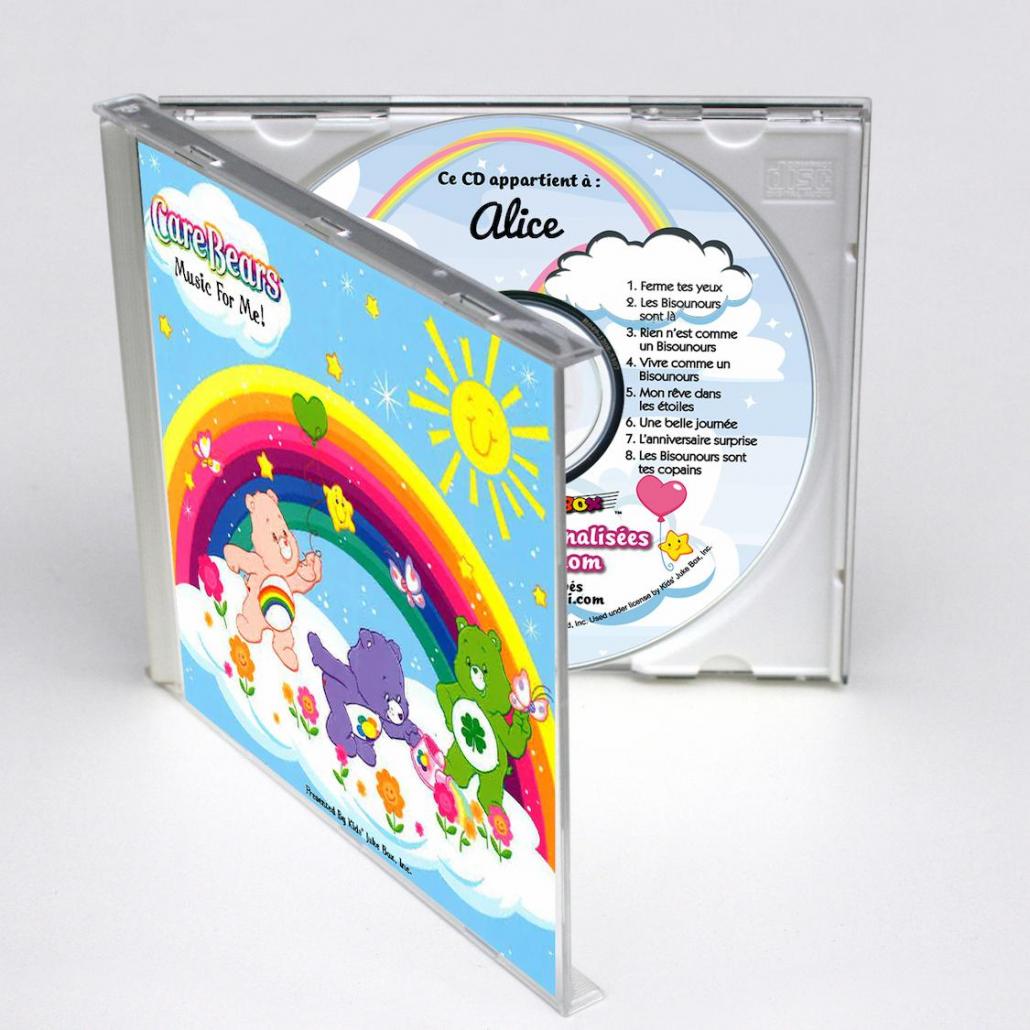 Coffret CD personnalisé Les Bisounours en anglais