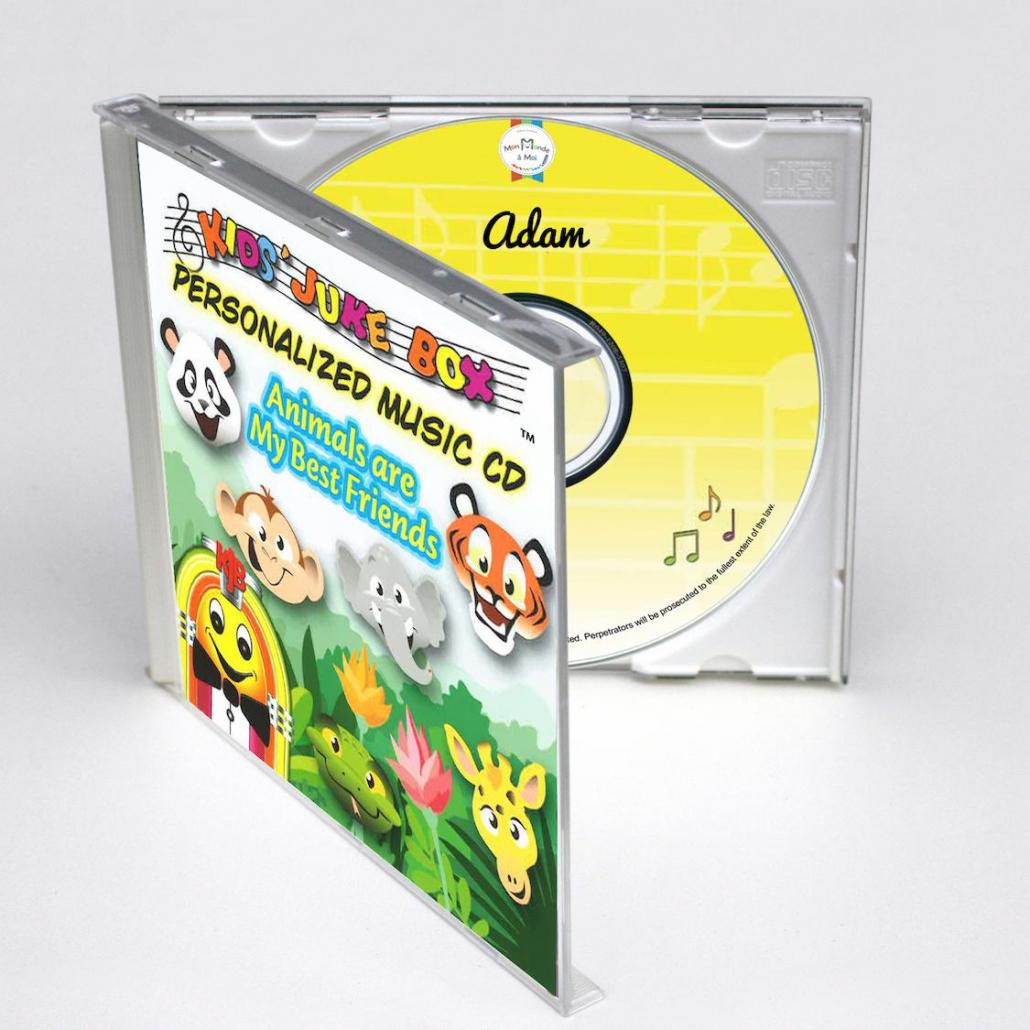 CD personnalisé avec prénom sur les animaux en anglais