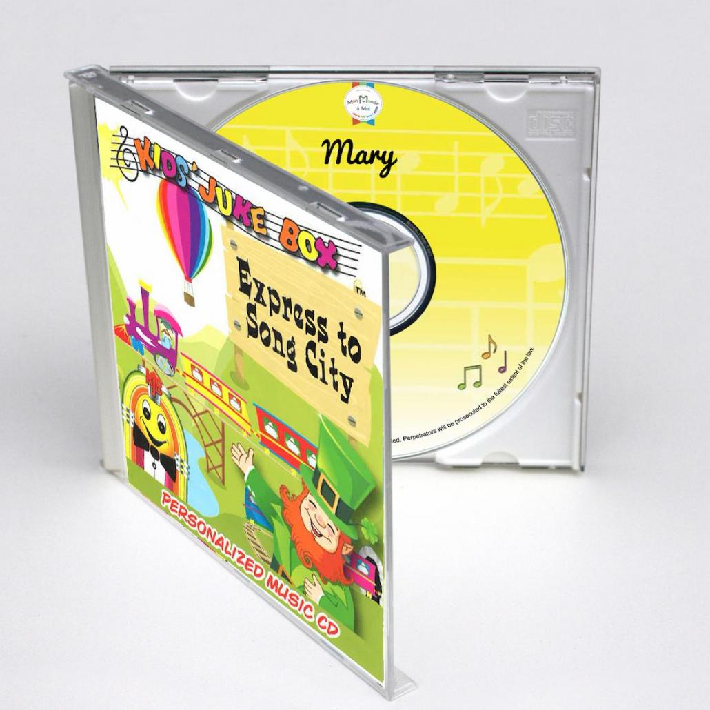 coffret CD personnalisé express to song city