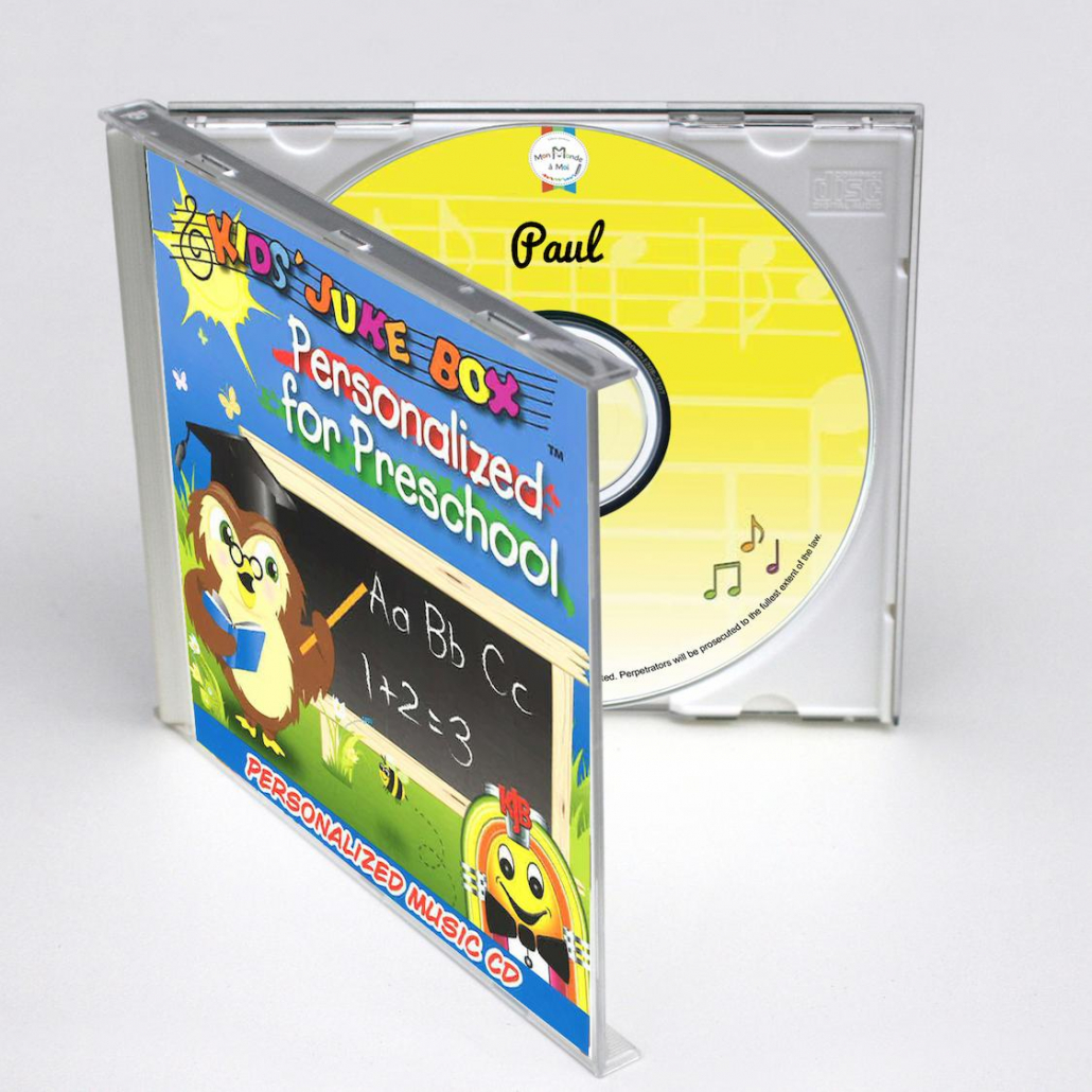 Cd personnalisé en anglais personalised for preschool