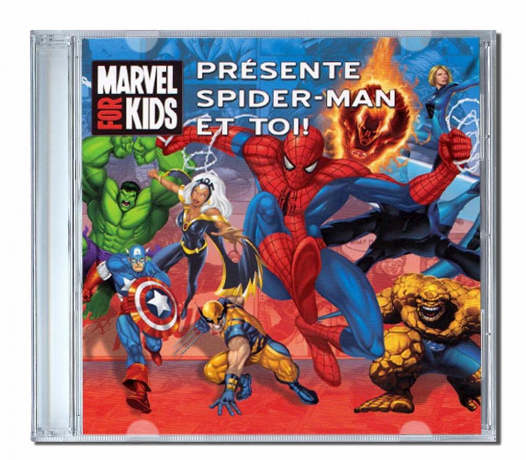 Cd personnalisé pour les enfants Spiderman avec son prénom
