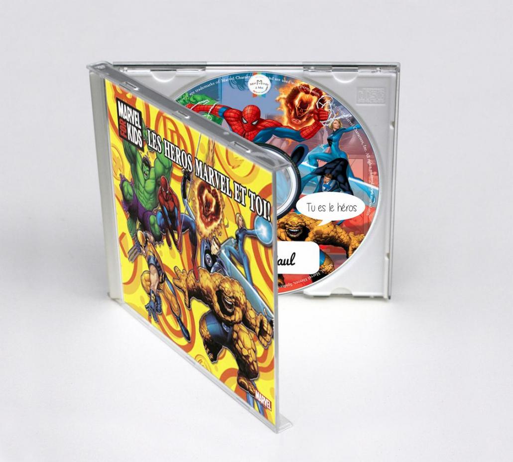 Chansons personnalisées les héros Marvel pour les enfants