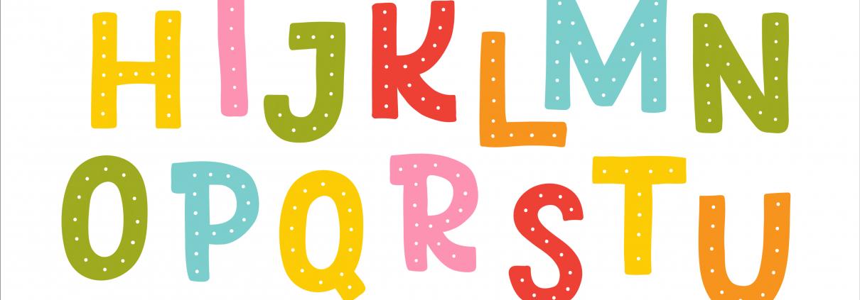 Lettres de l'alphabet coloré