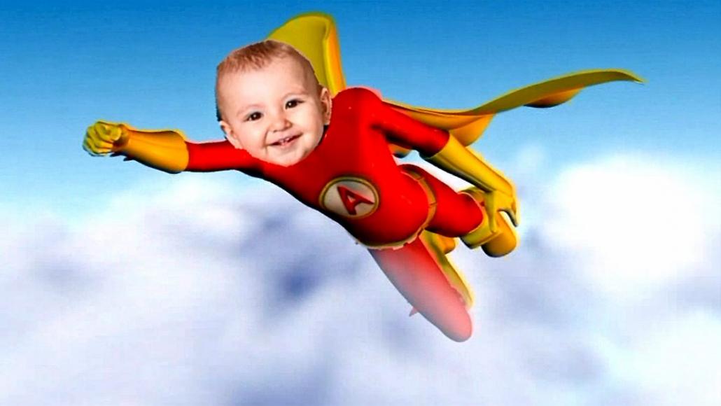 Dessin animé personnalisé Super Kid avec photo