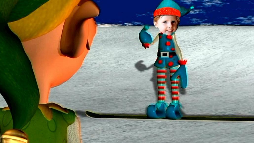 DVD dessin animé avec photo de Noël
