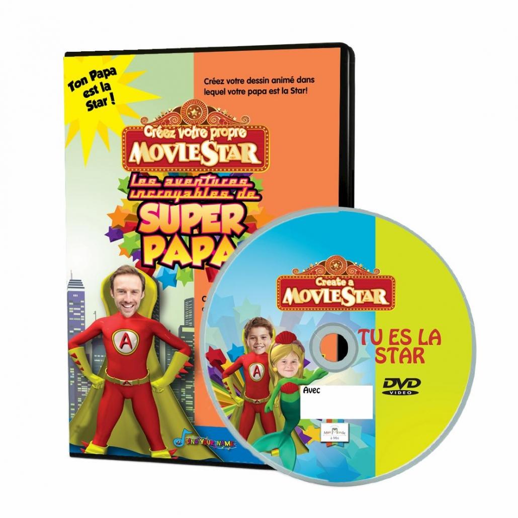 DVD personnalisé super papa pour la fête des pères