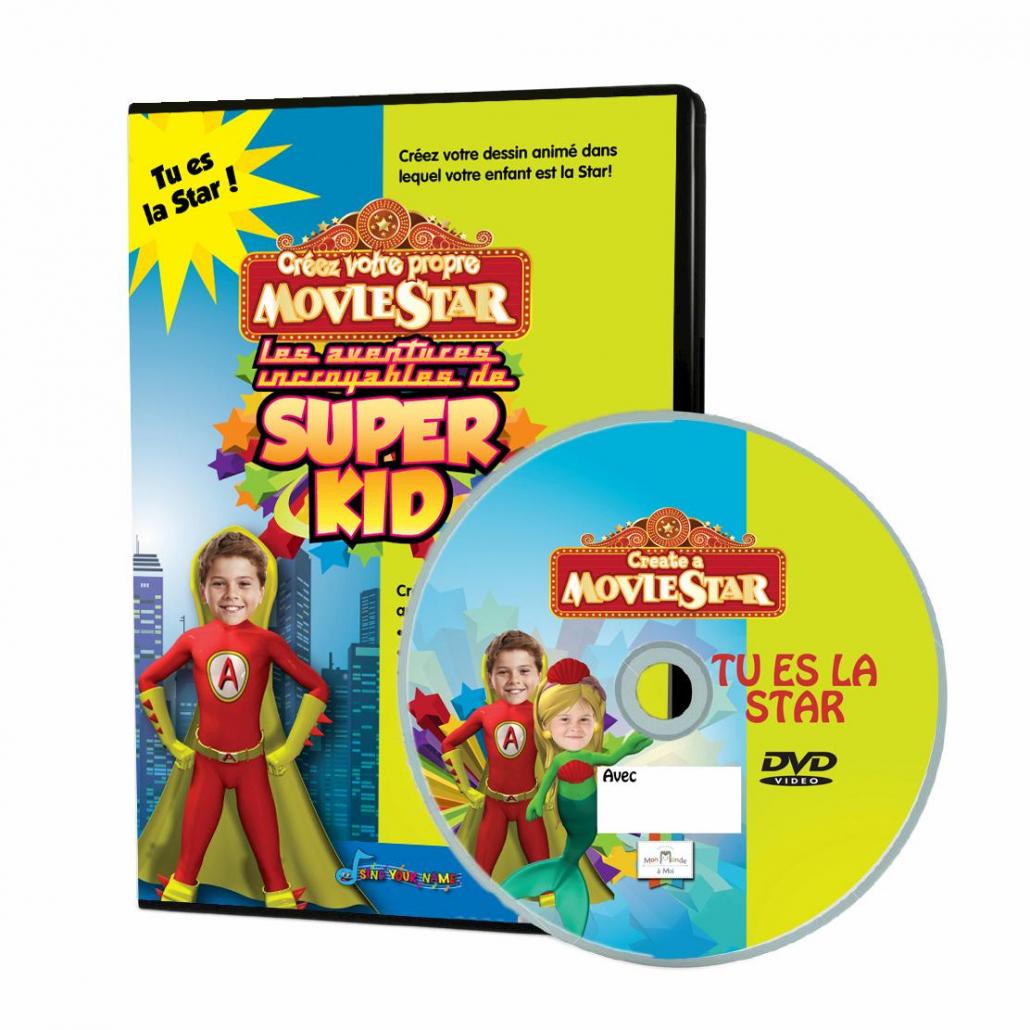 DVD personnalisé Super Kid avec la photo de l'enfant