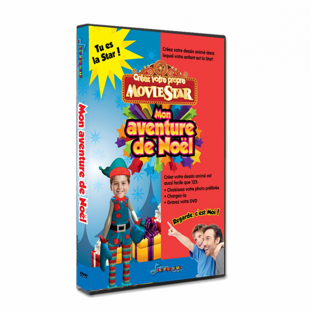 Mon aventure de Noël DVD personnalisé pour les enfants avec photo