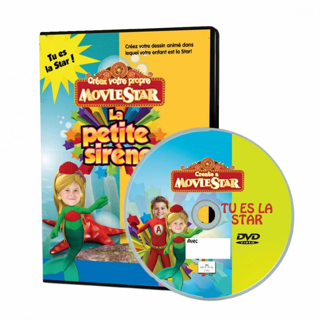 DVD personnalisé enfant avec photo la petite sirène