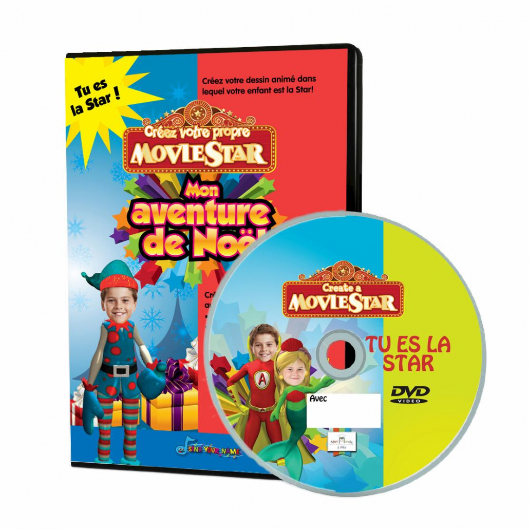 DVD personnalisé avec photo mon aventure de noël