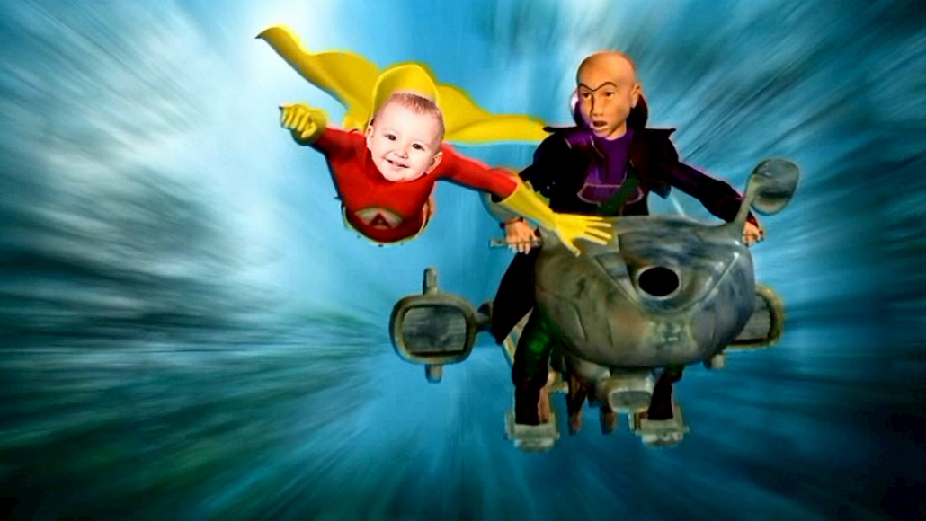DVD personnalisé enfant avec photo Super Kid