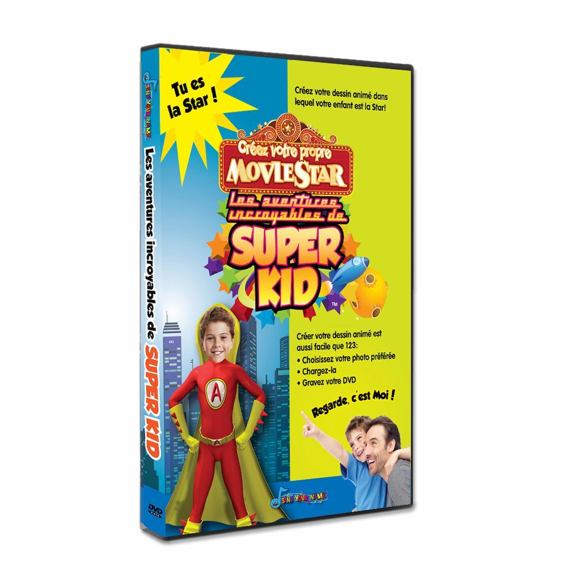 dessin animé personnalisé enfant avec sa photo Super Kid
