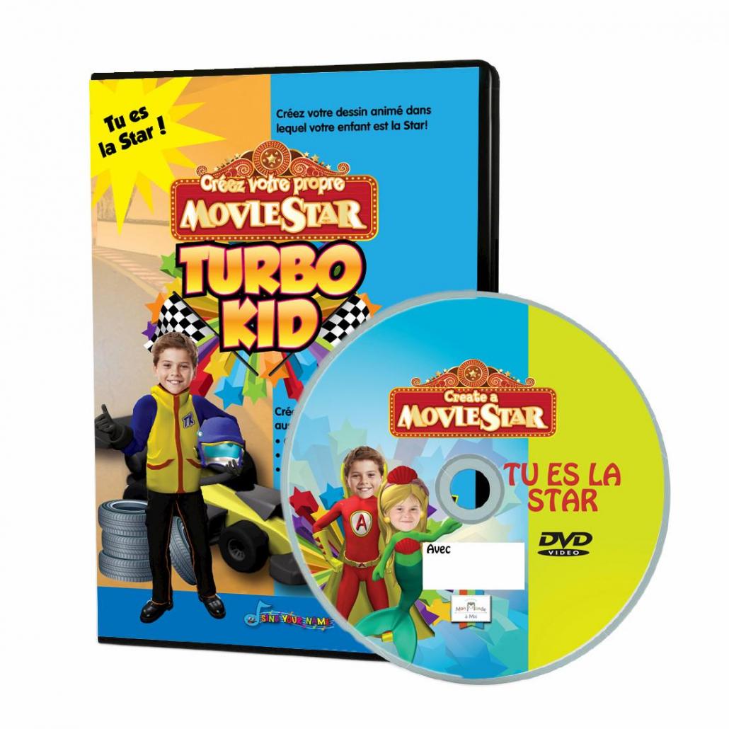 DVD personnalisé avec photo turbo kid et étiquette personnalisée