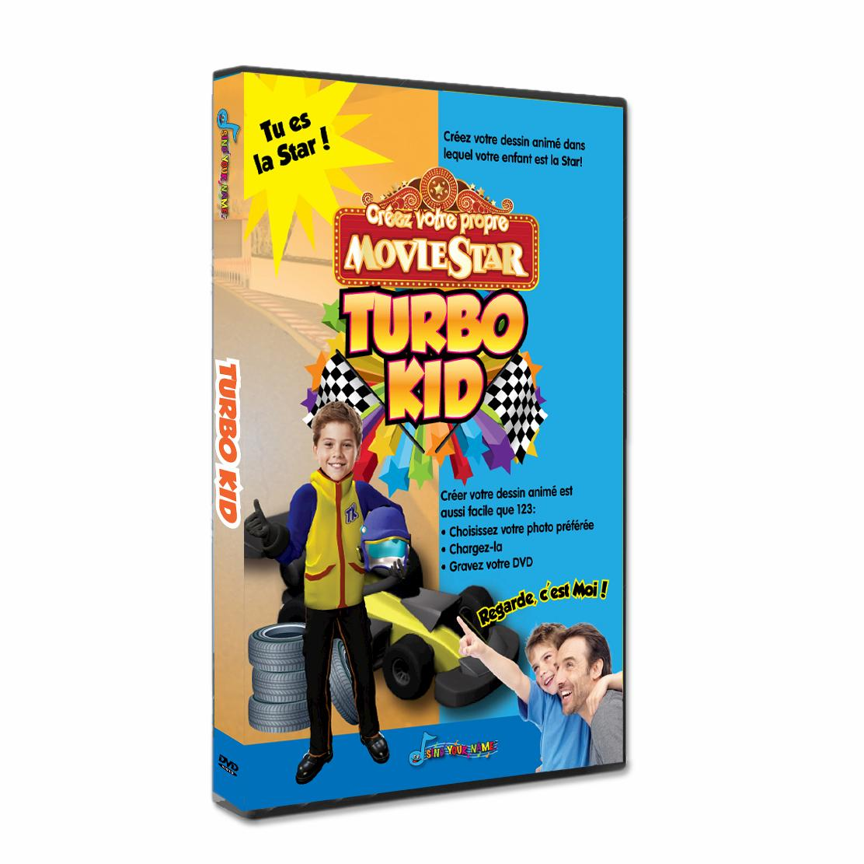 DVD personnalisé enfant avec photo Turbo kid