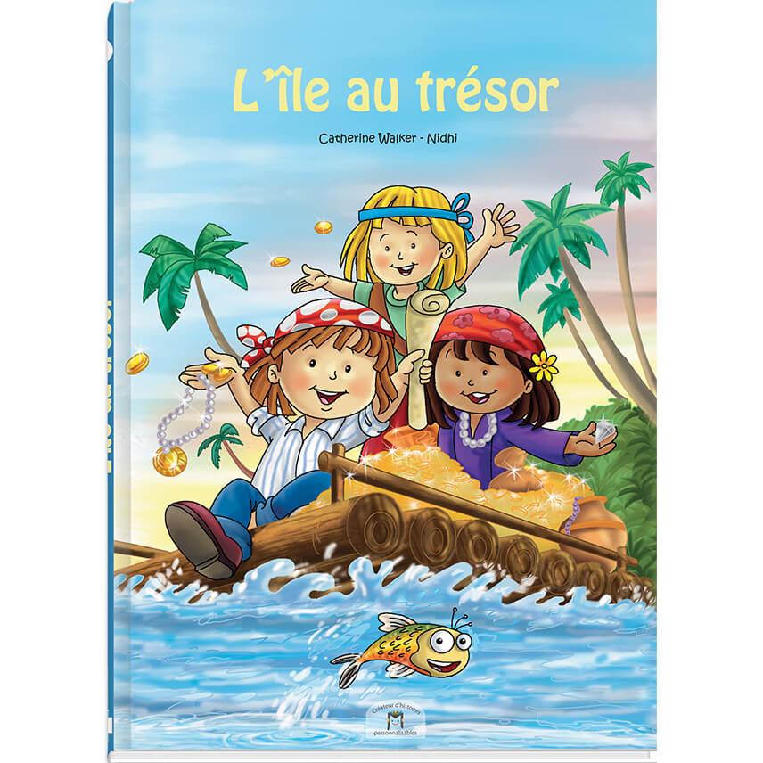 Histoire personnalisée sur les pirate et l'île au trésor