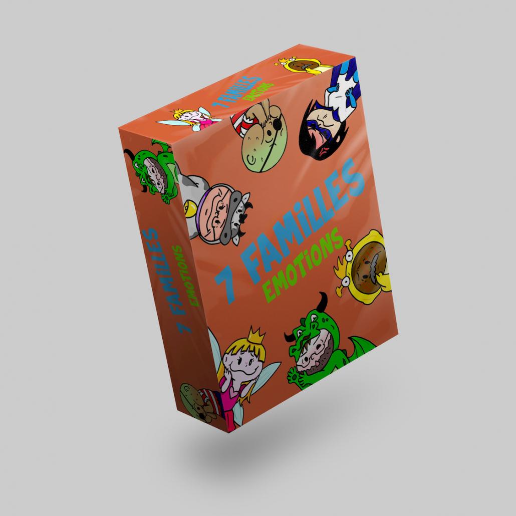 Jeux des 7 familles Emotions pour aider les enfants à gérer leurs émotions et les sensibilité à l'intelligence émotionnelle