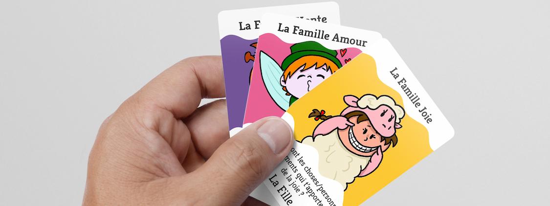 Jeu éducatif des 7 familles Emotions inspiré de la méthode Montessori
