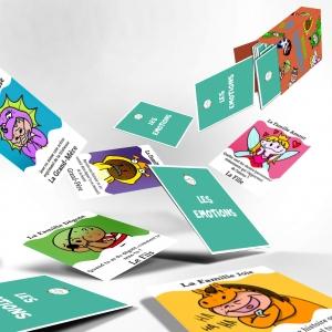 Cartes du jeu des 7 familles emotions