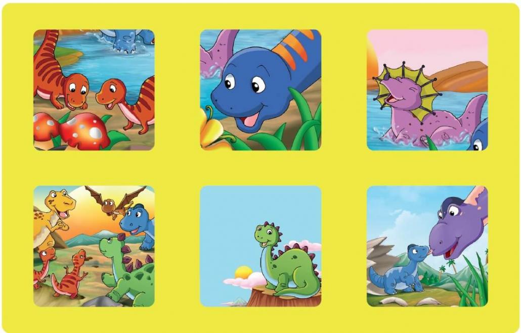 Planche dinosaure du jeu loto à imprimer