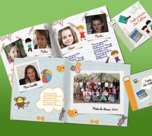Livre de classe personnalisé pour les enfants