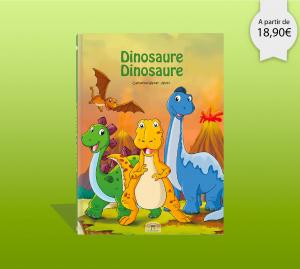 Couverture du livre personnalise sur les dinosaures
