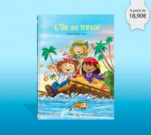 Couverture du livre personnalise l'ile au tresor