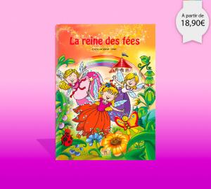 Couverture du livre personnalisé la reine des fees