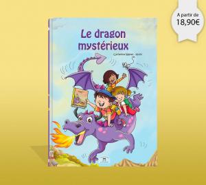 Couverture du livre personnalisé sur le dragon mystérieux