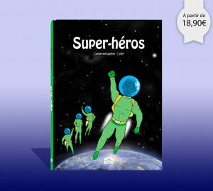 Couverture du livre personnalisé super héros